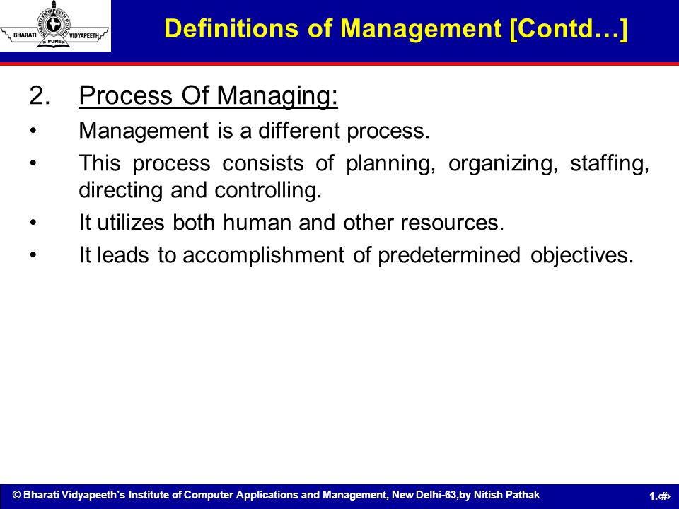 Definitions of Management [Contd…]